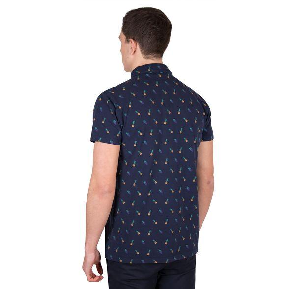 polo pineapple Steel print pique amp; Jelly shirt Navy vfnnWpTxq