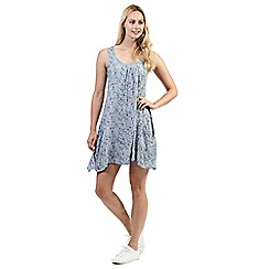 Izabel London - Blue floral print sleeveless dress