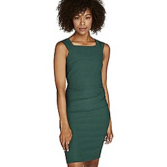Apricot - Green ruched side dress