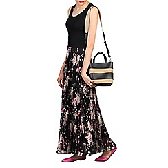 Jolie Moi - Multicoloured print pleated maxi skirt