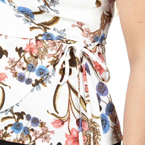 Izabel wrap top floral London White print rRqHrwIa