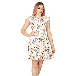 Tenki - White cap sleeve floral dress