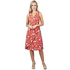 Izabel London - Red floral print wrap dress