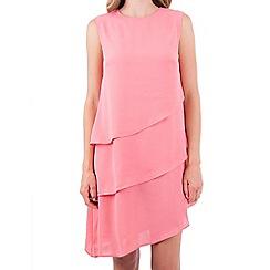 MISSTRUTH - Pink asymmetric layered dress
