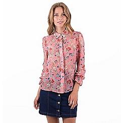 0335303efa3e77 MISSTRUTH - Multicoloured floral sheer chiffon shirt blouse