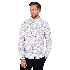 Steel & Jelly - White mini floral print long sleeve stretch shirt