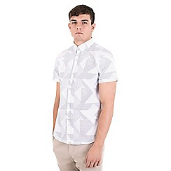 Steel & Jelly - White abstract dot short sleeve shirt