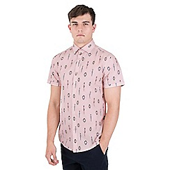 Steel & Jelly - pink limited edition wristwatch print short sleeve shirt