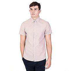 Steel & Jelly - Pink semi circle print cvc melange short sleeve shirt