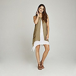 Apricot - Olive shimmer layer tunic dress