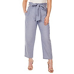 Arrae - Blue chambray tie waist trouser