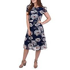 MISSTRUTH - Multicoloured floral cap sleeves tea dress