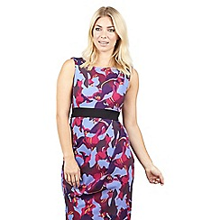 Izabel London - Purple wrap skirt tie waist bodycon dress