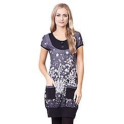 Izabel London - Grey floral print tunic dress