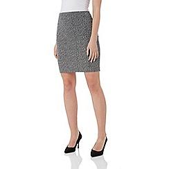 Roman Originals - Grey short textured skirt