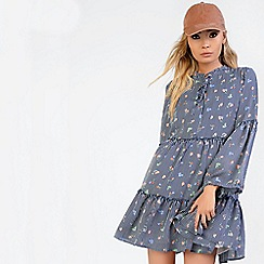 Amalie & Amber - Navy smock dress