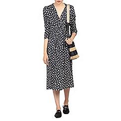 Jolie Moi - Multicoloured print crossover front viscose dress