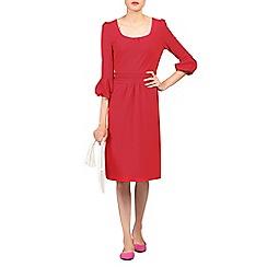 Jolie Moi - Red bell sleeve boat neck dress