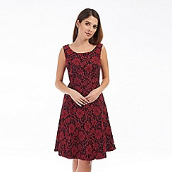 Solo - Wine isabella lace dress