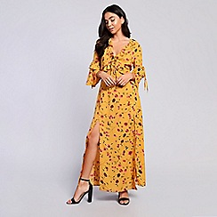 Amalie & Amber - Mustard floral maxi dress