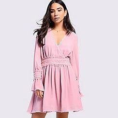 Amalie & Amber - Pink flare skater dress