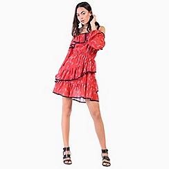 Amalie & Amber - Red floral mini dress
