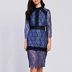 Amalie & Amber - Navy lace bodycon dress