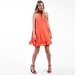 Amalie & Amber - Red peplum smock dress