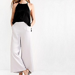 Amalie & Amber - Grey high waisted culotte trousers