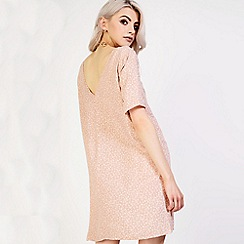 Amalie & Amber - Peach halter neck crochet dress