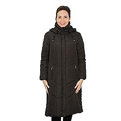 b32c65eae612b David Barry - Black full length padded jacket