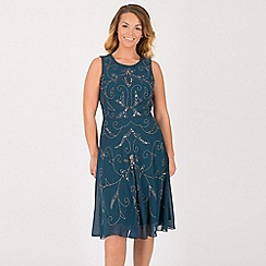 Anna Field - Blue flower vine embellishment dress