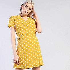Amalie & Amber - Yellow wrap dress
