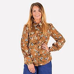 MISSTRUTH - Multicoloured floral satin shirt