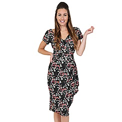 Lady Vintage - Black October branches elsie dress