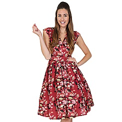 Lady Vintage - Red scarlet serenade eva dress