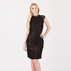 Anna Field - Black sequin lace short dress