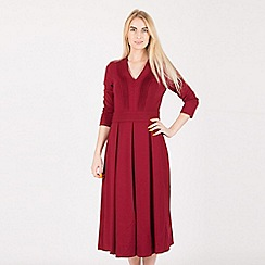 Anna Field - Dark red midi punto dress
