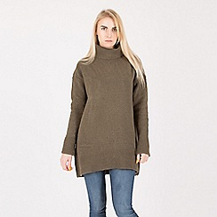 Anna Field - Khaki turtle neck structured jumper