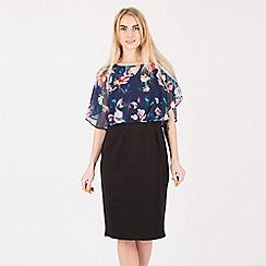 Anna Field - Black 2 in 1 floral top dress