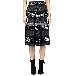 ded12ceb68dd8 Izabel London - Black contrast print midi skirt