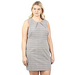 Izabel London Curve - Grey geo print dress