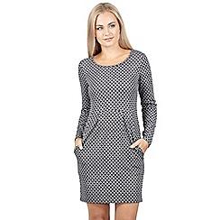 Izabel London - White rolled neck pleated front tunic dress