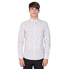 Steel & Jelly - White dragonfly & ladybird print long sleeve shirt