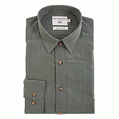 Bar Harbour - Green textured soft touch casual shirt