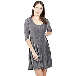 Izabel London - Silver round neck skater dress