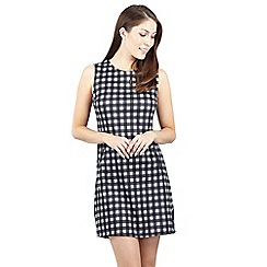 Izabel London - Grey check print shift dress