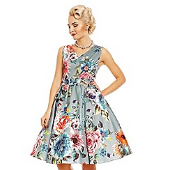 Dolly and Dotty - Blue petal floral swing dress c0e10d93c3
