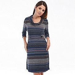 Solo - Blue stripe riga dress