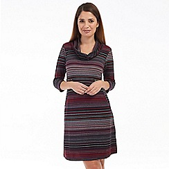 Solo - Red stripe riga dress